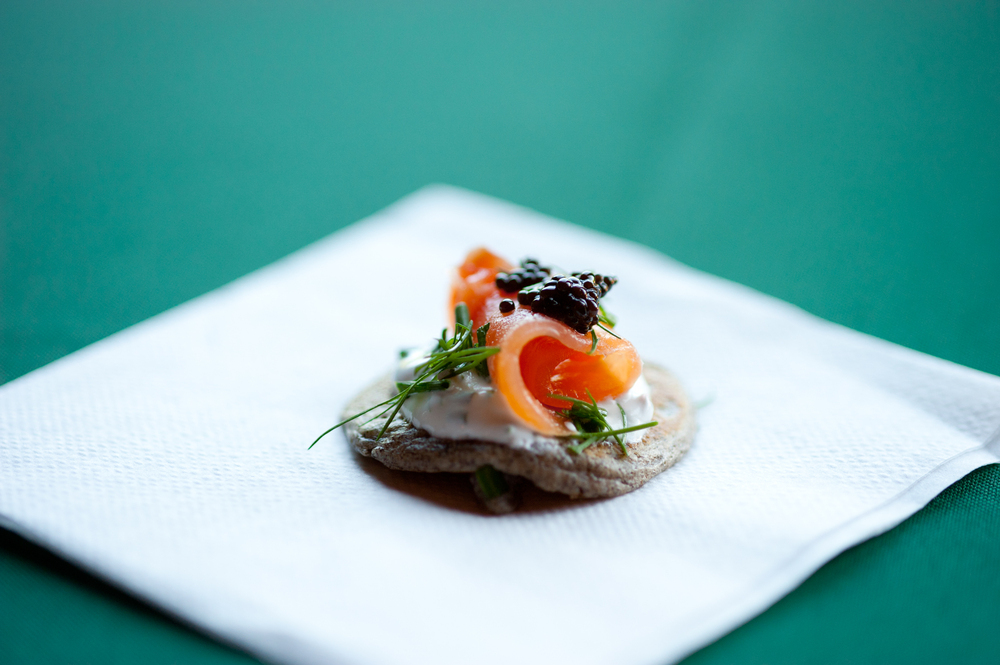 Buckwheat Blinis with Smoked Salmon, Caviar, and Crème Fraiche from ...
