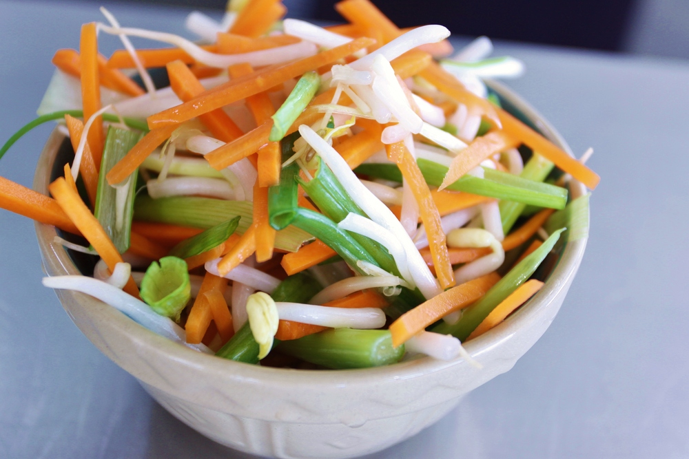 Pickled Bean Sprout and Carrot Salad